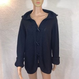Extra Touch women's cardigan size M blue navy